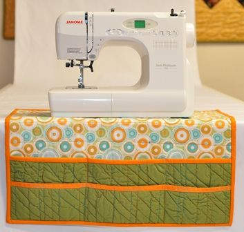 "Sewing Table Organizer Kit  A ""Must Have"" for every sewing machine. Multiple pockets keep all of your notions and sewing items close at hand but out of your way. Choose from assorted farbric patterns and colours. Kit includes pattern, batting, and all fabric.""Crinkle"" effect shown in photo was added using Texture Magic (sold separately). $19.95"