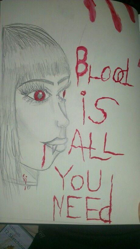 Blood advertisement for vampires