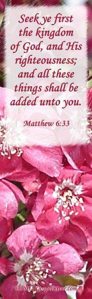 Seek, Matthew 6:33