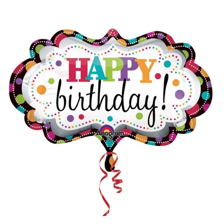 Happy Birthday Balloons | Happy Birthday Marquee SuperShape Foil Balloon