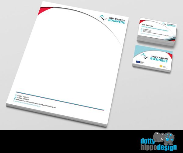 Business stationery pack for Low Carbon Business