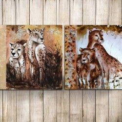 Cozy Cheethas! Sätt värme på tillvaron med en underbar 2-delars leopard målning. De varma färgerna och leoparderna ger ditt hem en harmoni och den handmålade canvastavlan kommer pryda din inredning på ett originellt sätt.  Länk till produkt: http://www.feelhome.se/produkt/cozy-cheethas/  #Homedecoration #Canvas #olipainting #art #interior #design #Painting #handpainted #interiordesign #canvastavla #canvastavlor #leopard #djur #natur #safari #familj #kontor #modernt #vardagsrum #varm #känsla
