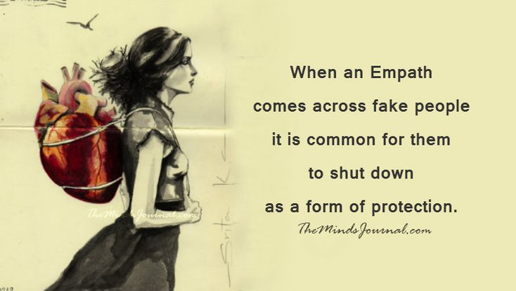 When an Empath comes across fake people it is common for them to shut down as a form of protection.  This can be seen as stumbling over words or one's memory and thought process...
