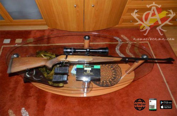 Rifle de cerrojo Steyr Mannlicher Luxus 7 mm rem. en muy buen estado apenas usado (hay que verle) visor Zeis 1,5-6×42 ,monturas appel , Y 2 cargadores.Se regala funda y una caja de balas RWS.
