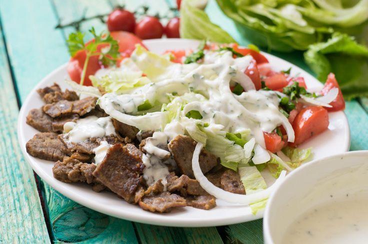 Extrem lecker, Low Carb und schmeckt original wie beim türkischen Imbiss! Der Low Carb Döner Teller - schnell und einfach selbst gemacht!