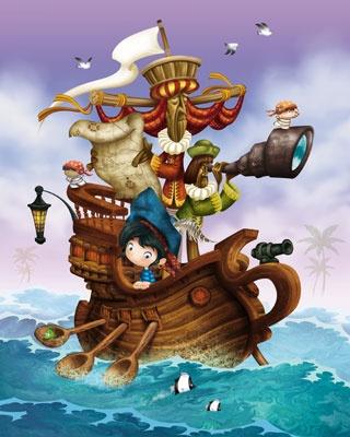 Pirate Ship  Illustration  Daniel Griffo