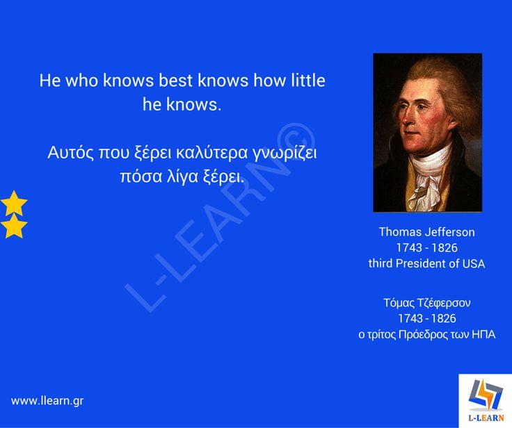 Τόμας Τζέφερσον  #English #Αγγλικά #quotes #ρήσεις #γνωμικά #αποφθέγματα #Τόμας #Τζέφερσον