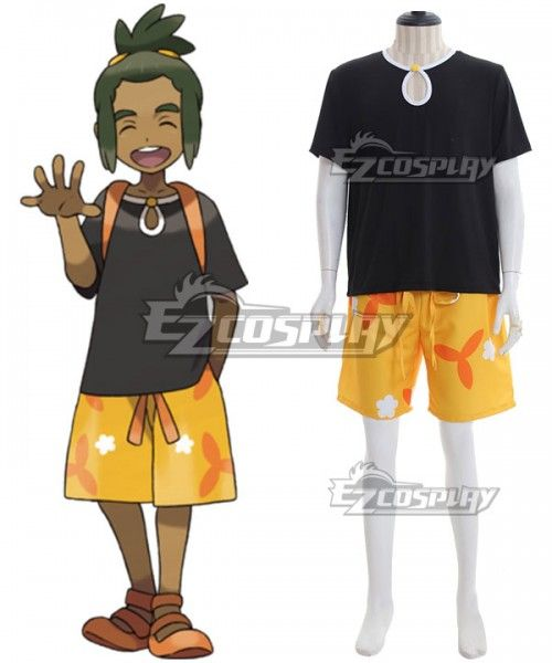 Pokemon Sun And Moon Hau Cosplay Costume Moon Sun Pokemon