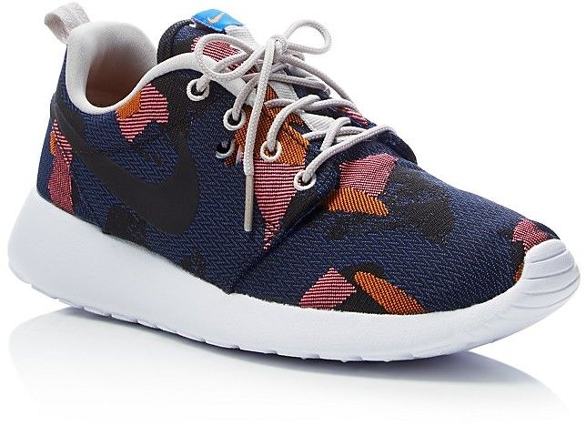 Nike Women's Roshe One Jacquard Camouflage Lace Up Sneakers