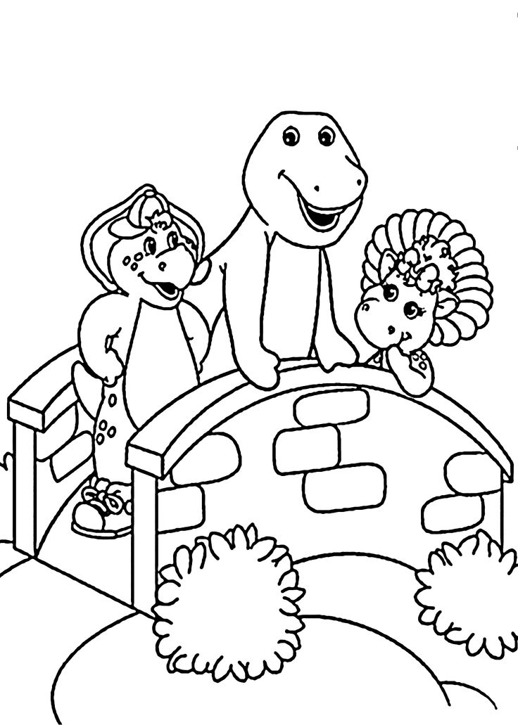 Barney And Friends Coloring Pages For Kids Printable Free