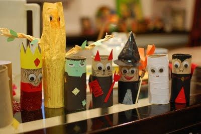 Halloween toilet paper roll craft kid project