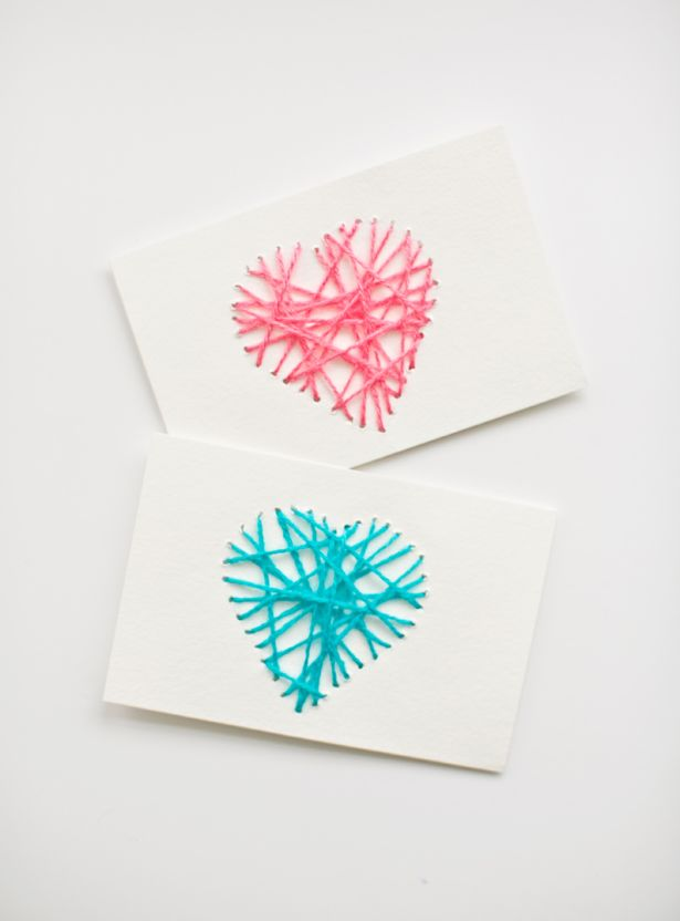 hello, Wonderful - MAKE STRING HEART YARN CARDS