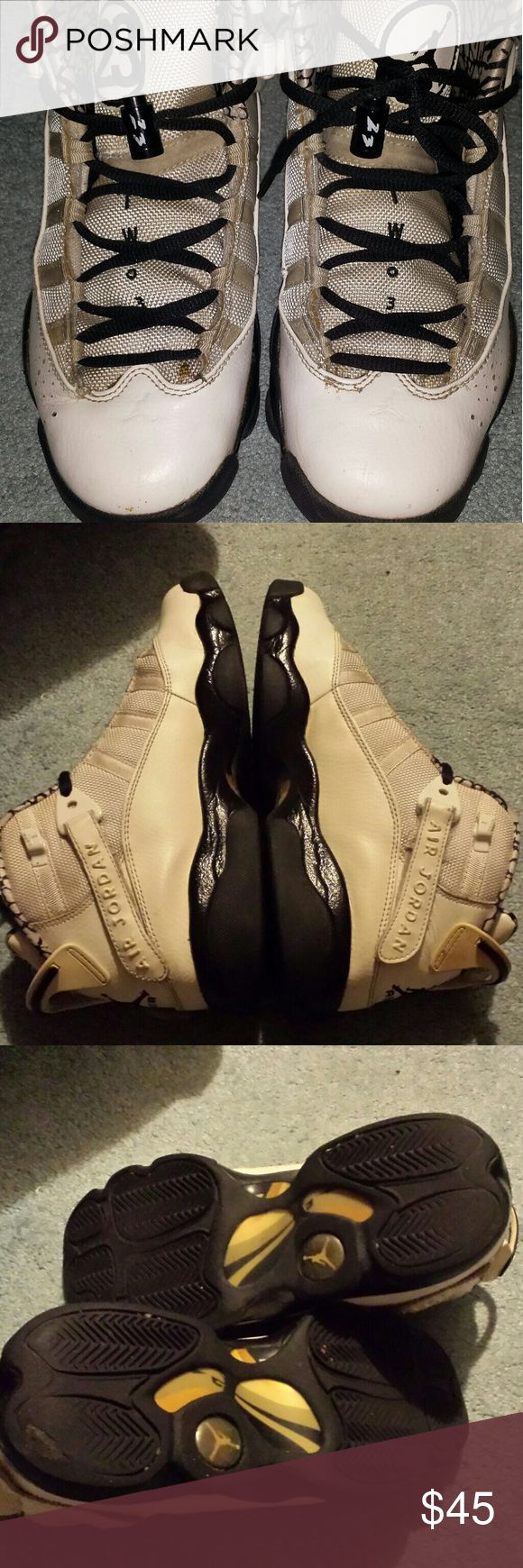 RARE JORDAN 6 RINGS SNEAKERS SIZE 6Y Still in good shape. Comes with string locks Nike Shoes Sneakers