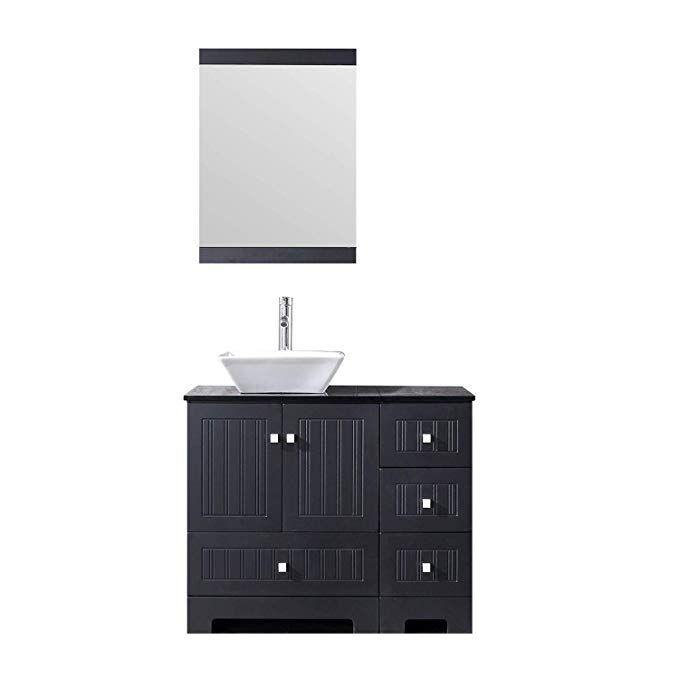 Sliverylake 36 Bathroom Vanity Ceramic Vessel Sink Combo Pvc