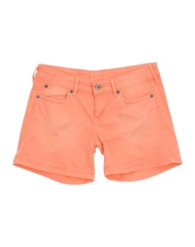 PEPE JEANS Girl's' Denim shorts Orange 16 years