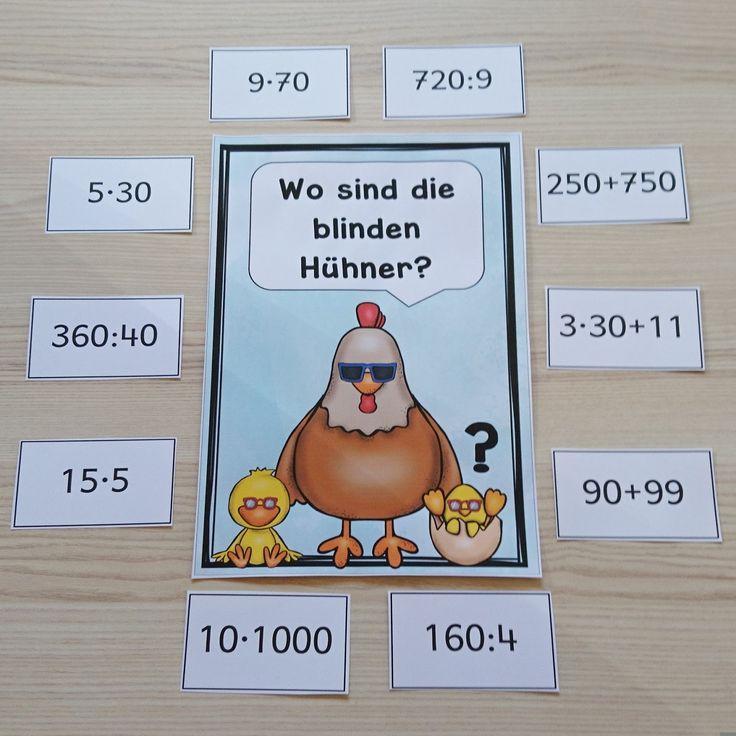 """Kopfrechenspiel """"Blinde Hühner"""" Das Kopfrechenspiel """"Blinde Hühner"""" habe ich bereits zu Referendariatszeiten kennen gelernt und nun ein bi..."""