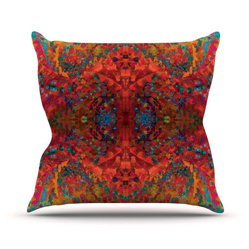 Found it at Wayfair - Sea by Nikposium Abstract Throw Pillow