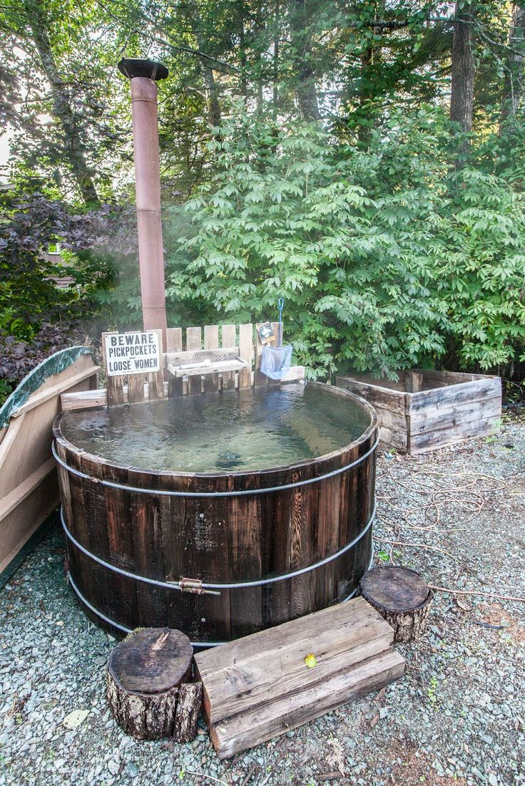 9 best images about wood fired hot tub on pinterest