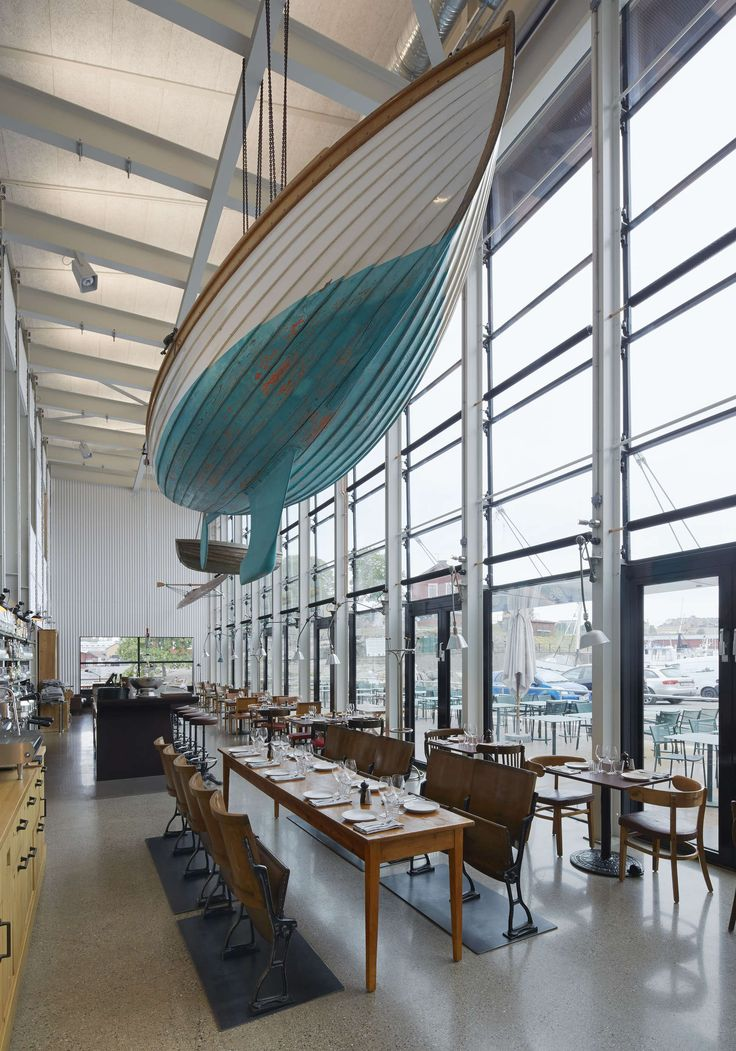 This #boat #decor is perfect for the #nautical themed interior of this restaurant!