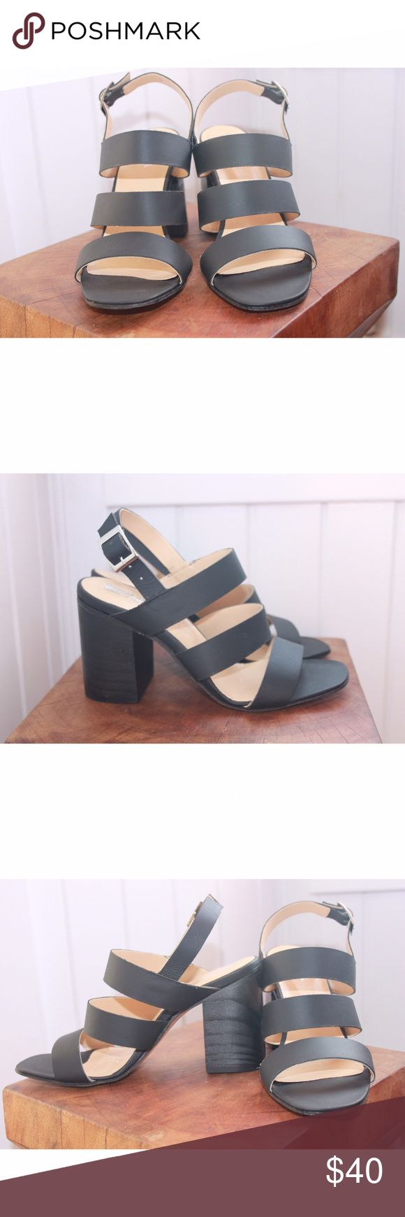 AMERICAN APPAREL block heel sandals These are in perfect never worn condition! Leather sandals from American Apparel. The absolute perfect every day sandal for spring/summer! American Apparel Shoes Heels