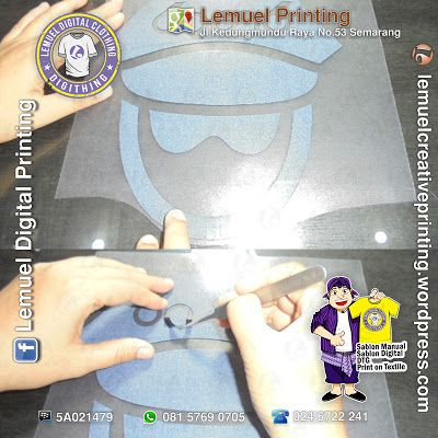 Custom Jasa Sablon Digital Cad Cut Siap Heat Press Berkualitas DIGITHING