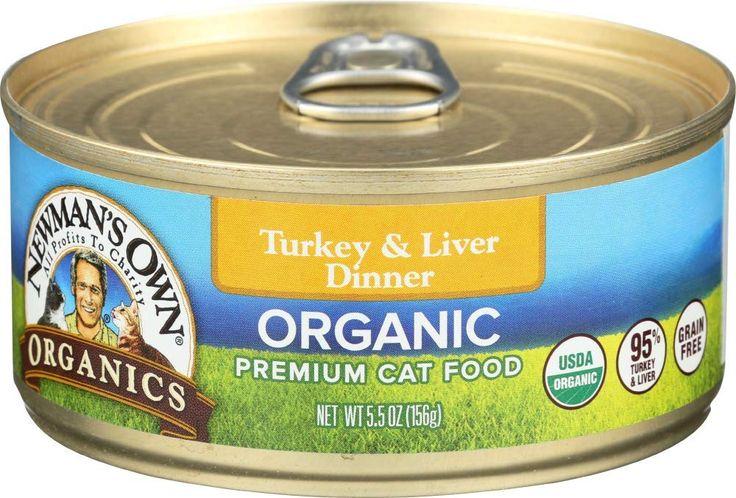Newmans own organics grainfree canned cat food turkey