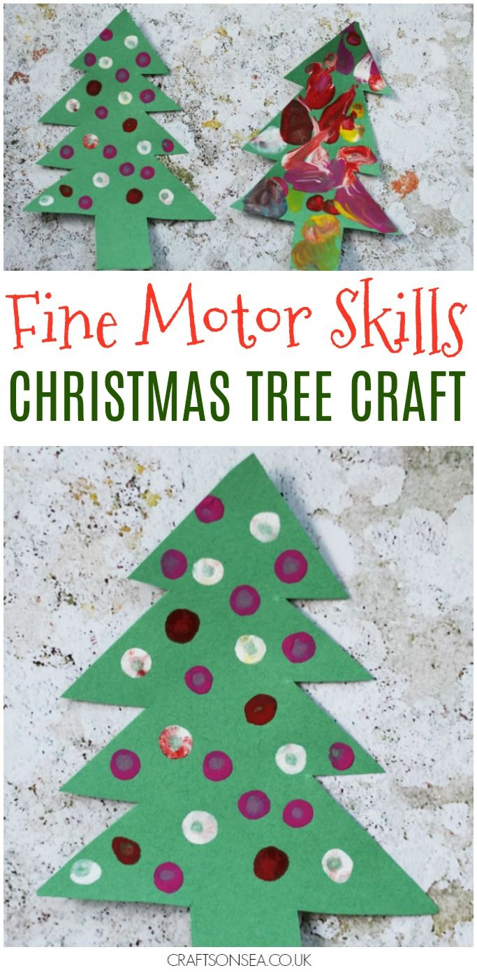 Fine Motor Skills Christmas Tree Craft Tree Crafts Christmas Tree Decorations For Kids Christmas Activities