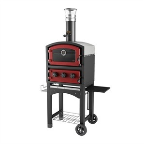Fornetto Wood Fired Pizza Oven Red - Bunnings Warehouse
