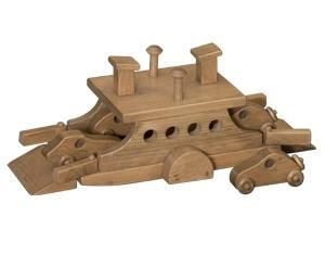 Wooden Toy Ferry Boat with 4 Cars
