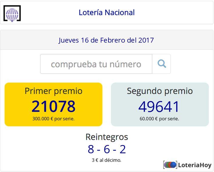 Lotería Nacional | Sorteo del #Jueves 16 de #Febrero de 2017 #Loteria #LoteriaNacional