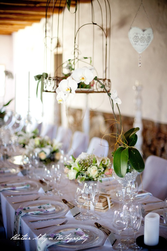 Wedding Flowers - Birdcages.