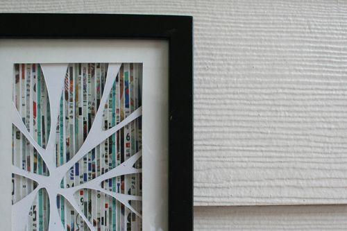 cool newspaper art: Junk Mail, Diy Art, Magazines Art, Diy Wall Art, Art Tutorials, Recycled Art, Mail Art, Art Projects, Recycled Magazines