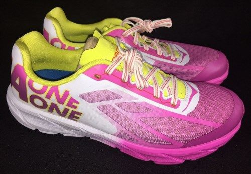 70.11$  Watch now - http://viduc.justgood.pw/vig/item.php?t=vtu1cd45122 - Hoka One One Women's Tracer Fuchsia / Citrus Yellow Coral Running Athletic Shoes 70.11$