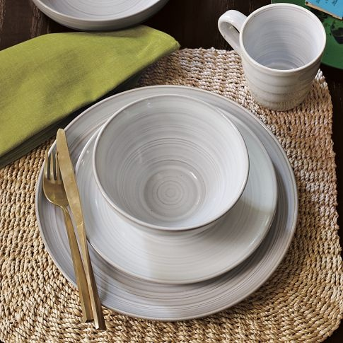 I'm not in the market for dinnerware right now, but I like both the visually appeal and simplicity of these.