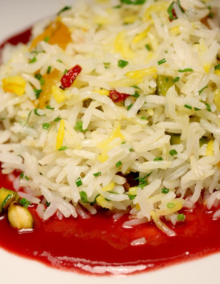 ... Basmati Rice with Pistachio, Apricot, Black Sour Cherry and Saffron