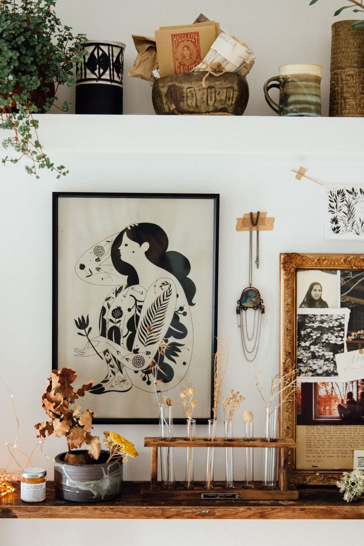 Décorez avec des bouquets de fleurs séchés | Scènes d'hiver par lobsterandswan.com