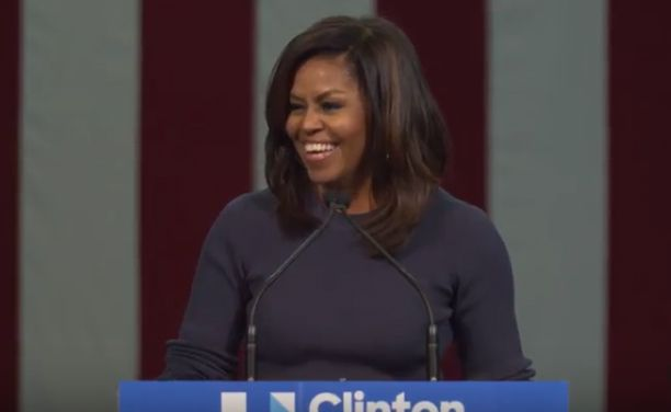 You Must Watch This Speech By Michelle Obama.  Whoa.  She flattens Donald Trump and his misogyny.