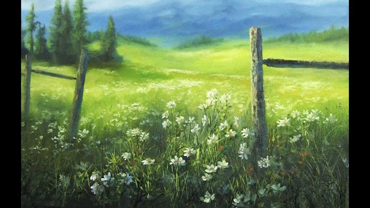 Do you ever see a flowery meadow and wonder how you would paint it? Watch Kevin show you how to create this stunning meadow painting using bright highlights in the middle of the painting to contrast with the darker grass in the foreground to bring out the detail in the flowers. For more information about full length DVDs, brushes, oil paint and more, please visit: www.paintwithkevin.com