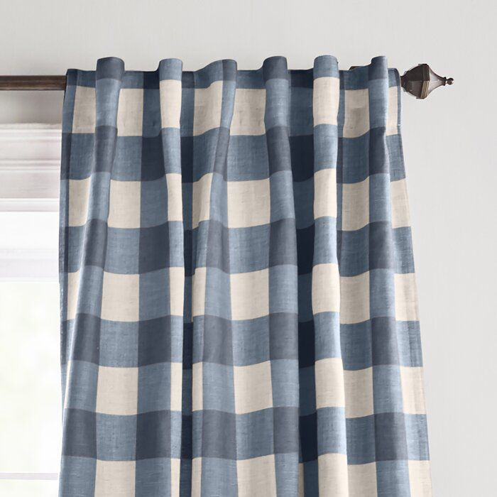 Conor Plaid Blackout Thermal Single Curtain Panel Panel Curtains Curtains Elrene Home Fashions