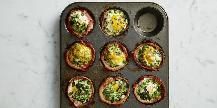 Green Bacon + Egg Cupcakes via @iquitsugar