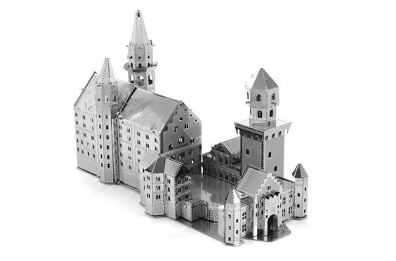 Fascinations Metal Earth Neuschwanstein Castle 3D Metal Model Kit  FASCINATIONS  Toys & Game