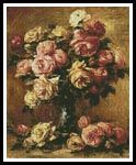 Roses in a Vase 2 - Cross Stitch Chart