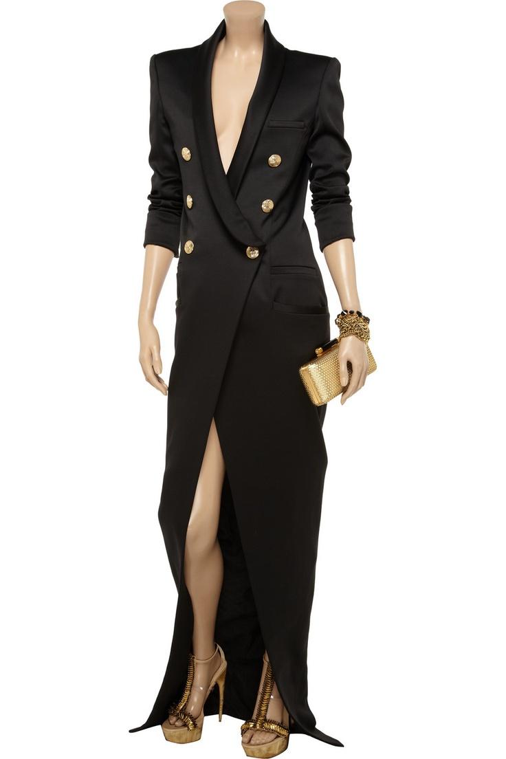 Balmain Wool-blend gown --hmmm