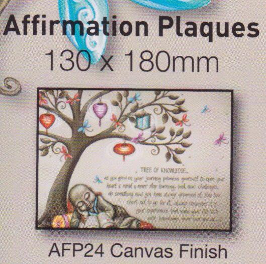 Affirmation plaque