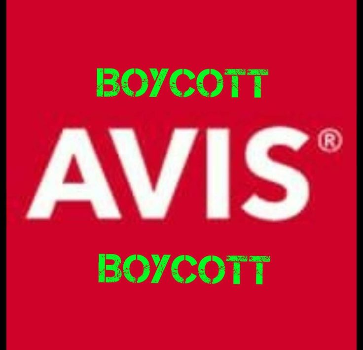 BOYCOTT AVIS CAR RENTAL FOR COWERING TO THE LEFT & BACKING AWAY FROM THE NRA.