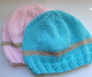 "This version of ""My Little Baby"" Newborn Hat is knit. The pattern includes instructions for both baby weight and worsted weight yarns, as well as instructions for both dpn's and straight needles. It is a good pattern for beginner's to use, although it is not written in ""beginner"" terms."