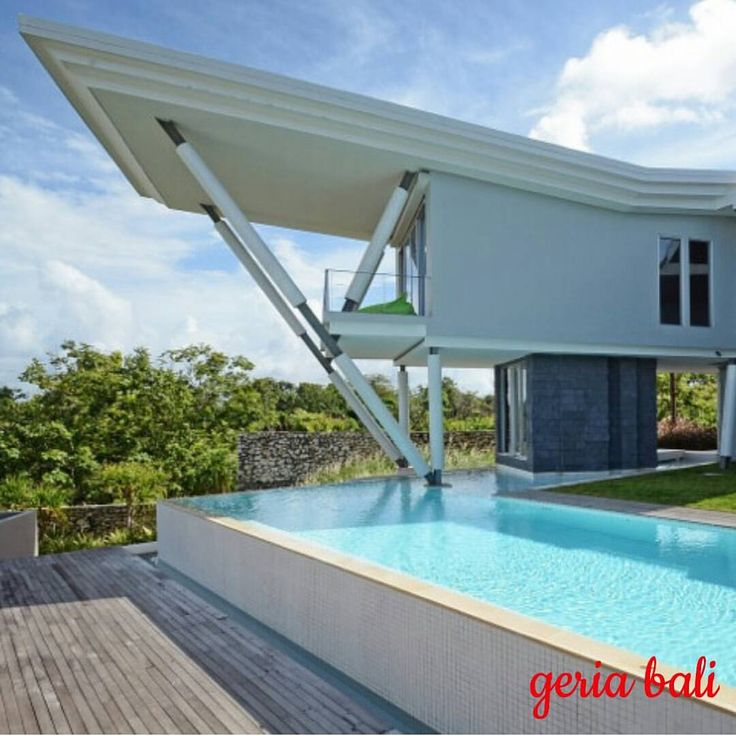With its special UV glasses #architecture the #villa features great #sea views from any location. Indoor seems to blend with outdoor offering a great feeling of openness especially on a generous pool... #bali #balangan #luxury #villa #balivilla #holiday #geriabali