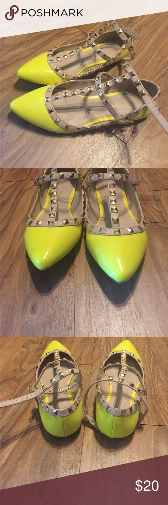 Flats Neon flats. Gently worn. Wild Diva Shoes Flats & Loafers