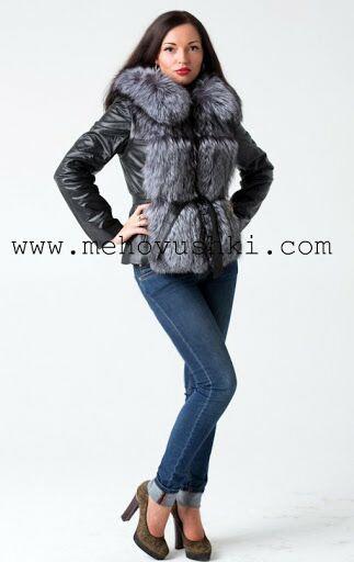 Женская кожаная куртка с мехом Цена со скидкой 18 000 Размер 40,42,44 #мех#меховая жилетка#шуба#меховой жилет#чернобурка#жилетка из лисы#