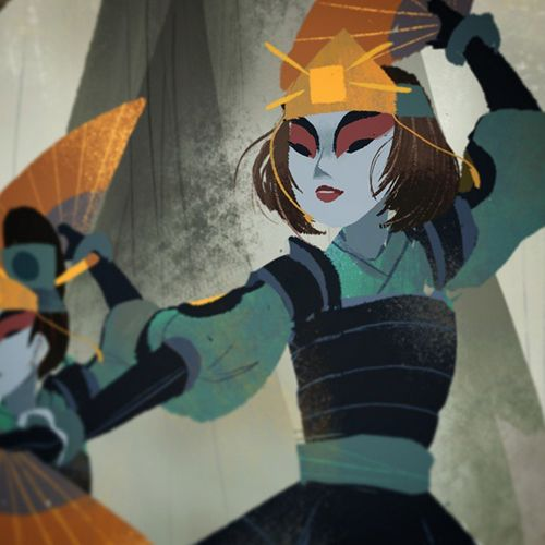 "abbydraws: sneak peek of my piece ""Kyoshi"" for Children of the Earth: Avatar Fanzine! (follow for more details!) proceeds will go to the printing of this zine, and to Donorschoose.org"